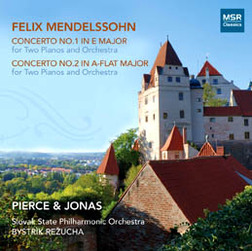 MENDELSSOHN: CONCERTOS NOS.1 & 2 for TWO PIANOS